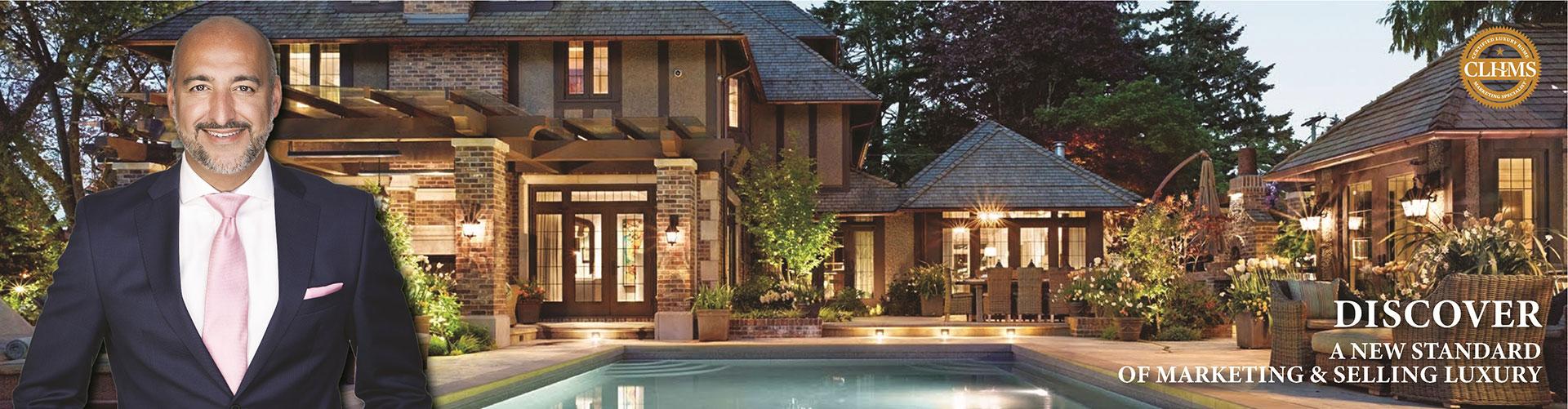Top Luxury CLHMS - SRES - CNE - ABR - SRS Real Estate Broker Joseph Azimi In Toronto Vaughan Kleinburg Oakville Mississauga Brampton Milton Caledon Etobicoke Markham Richmond Hill Joseph Azimi, Broker 3